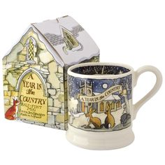 """Year In Country"" Year In The Country Winter 1/2 Pint Mug Boxed at Emma Bridgewater"
