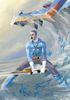 Blue Power Rangers Samurai Art by Sopeh.deviantart.com