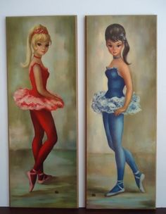 Big Eye Ballerina Girl by Maio...we had these in our bedroom.