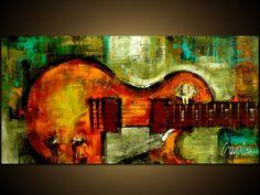 Original Painting - Modern Abstract Art by SLAZO - 24x48 on Etsy, $450.00
