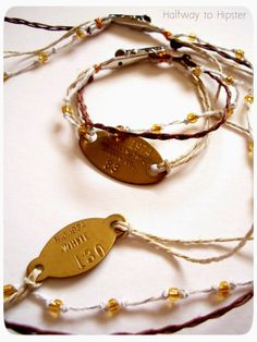 Halfway To Hipster: Upcycled Dog Tag Jewelry