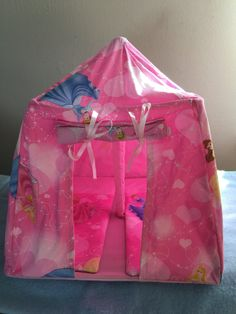 Disney heart princess doll tent & handmade barbie tent | addi 3rd birthday | Pinterest | Tents Doll ...
