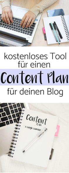 Tolles kostenloses Tool zum erstellen von einem Content Plan für deinen Blog! Ich bin richtig begeistert von der Idee!