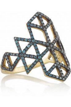 Lito Izel 14-karat gold diamond ring   NET-A-PORTER