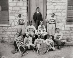 African American Baseball Players, Morris Brown College, 1900  #wallcollections #historicalpix #wallart #blackandshitephotos #vintagepictures #artforwall #vintagephotos #oldpictures #historicalphotos #history