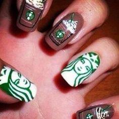 cute nail Starbucks  @nail_nail_