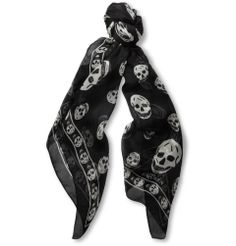 Alexander McQueenSkull-Print Silk Scarf|MR PORTER