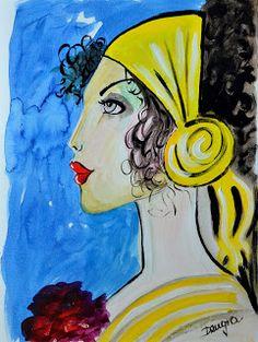 ROSA DENGRA Painting & Drawing, Disney Characters, Fictional Characters, Aurora Sleeping Beauty, Faces, Disney Princess, Drawings, Illustration, Pink