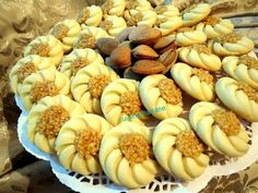 Arabic Food, Pastry Recipes, Food Videos, Biscuits, Almond, Butter, Chocolate, Vegetables, Sweet