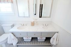 Gray vanity- YES to match Gray grout with the subway tile and floor tile