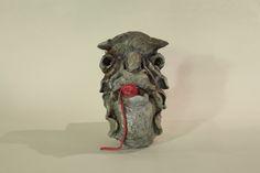 Guten Morgen Kumpel, H= 28 cm, Keramik glasiert, Konrad Thalmann, Bildhauer, sculptor,
