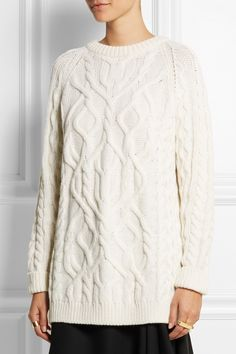 McQ Alexander McQueen over sized cable knit sweater 4b31a15de