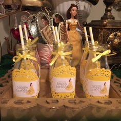 Beauty and the Beast birthday party drinks! See more party ideas at CatchMyParty.com!