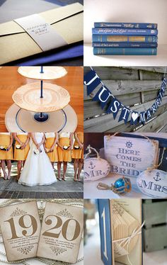 Modern blue and gold wedding. Great picks for a dessert table and wedding reception! blue, blue and gold wedding, cake stand, cupcake stand, decor, dessert table, gold, pastry stand, vintage, wedding, 3 tier cake stand, tiered cake stand --Pinned with TreasuryPin.com  by www.cakestandlady.com