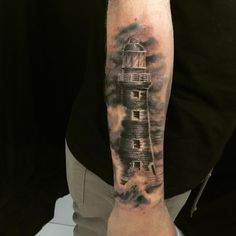 Added some ink today  @tatuadornato #Tattoo #Lighthouse #Ink #Nauticaltattoo #Nautical