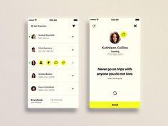 Favorite Travel App social component screens by Igor Ivankovic #Design Popular #Dribbble #shots