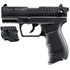 Walther PK380 Semi-Automatic Handgun .380 ACP 8 Rounds 3.66 Barrel Fixed Sights Polymer Frame Black Finish with Laser 5050310