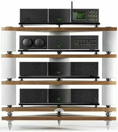 Naim Audio's stunning 'Fraim' - a beautiful stand that really does make your system sound even better! purehifi.co.nz