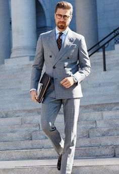 Dapper. Gray is such a great color and looks great on everyone.