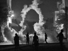 Tear gas art by Ahmed Al-Fardan.