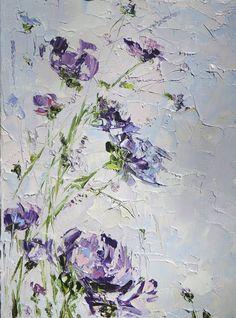 Bohemian Painting Purple Blue Wall Art Decor от ForestSandandAir