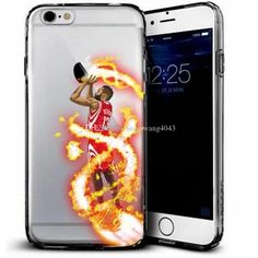 new TPU phone cases for iphone 7 6 6s plus 5 note7 s7 soft painting cover basketball football star design defender case