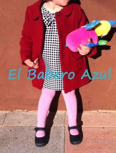 El Babero Azul: Vestido túnica de cuadros, talla tres años.(Recicl...