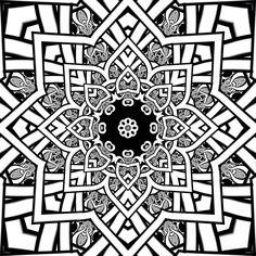 Detailed Coloring Pages For Adults | ... Steven Vrancken Free printable coloring sheet Fractal art mandala