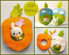 This PDF sewing pattern is to make a bunny and his Carrot orchard book from felt fabrics. This pattern is hand sewn.  Finished size: 8x 5  THIS IS NOT A FINISHED BOOK. Pattern does not include Doll, book, supplies or fabric.  Language: English  THIS PDF e-Pattern includes: . Step by step photo tutorial. . A material and supply list. . Full size pattern pieces just Print and Sew! (No need to enlarge or resize!)  Skill Level: easy (are suitable for all levels of sewers)    Instant Download…