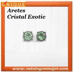 Aretes CRISTAL EXOTIC Baño en plata 925 con finas piedras color turqueza *60%*Precio Oferta S/.21.90