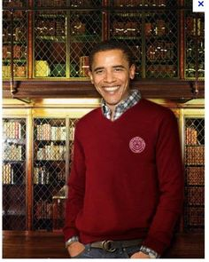 Obama at Harvard. Yes, he really did show up at the campus once when not busy organizing various communities in South Side Chicago.