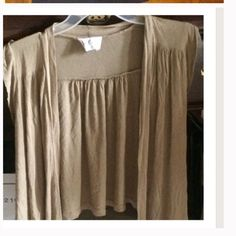 Light tan brand new short sleeve cover Great for dressing up. From pac sun Kirra Tops Blouses