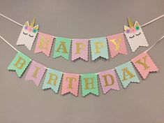 Unicorn banner first birthday unicorn party unicorn decor