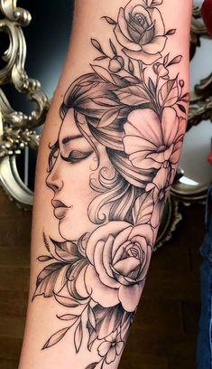 Dope Tattoos, Unique Tattoos, Leg Tattoos, Body Art Tattoos, Small Tattoos, Leg Sleeve Tattoo, Sleeve Tattoos For Women, Forearm Tattoo Men, Mermaid Sleeve Tattoos