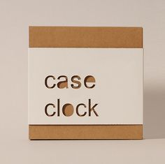 #Case #Clock - Wall-clock with a handy pocket to put away your daily stuff - #Cardboard #Design for #Home and #Office - http://eco-and-you.com/en/shop/case-clock/