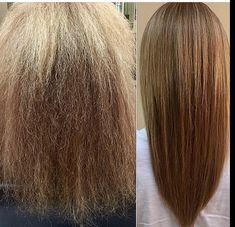 Before and After of a Simply Smooth Keratin Treatment