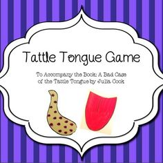 "Having difficulty with tattling? A game to accompany the book ""A Bad Case of the Tattle Tongue"" by Julia Cook. Choose a card and decide if the example is tattling or warning, then pin the spotted tattle tongue or the red warning tongue on the boy. Includes everything needed to play the game."