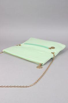 Detachable Chain Flap Clutch Bag