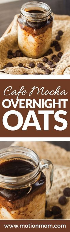 Only a few ingredients are needed for this overnight oat recipe! All clean eating ingredients are used for this healthy coffee flavored breakfast. Pin now to make this later (Vegan Breakfast Recipes) Healthy Breakfast Recipes, Healthy Recipes, Drink Recipes, Healthy Meals, How To Make Breakfast, Oatmeal Recipes, Overnight Oats, Overnight Breakfast, Breakfast Cafe