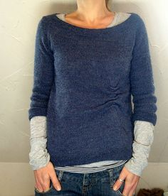 Comfy slouchy layers. Love that little ruche!