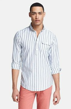Gant by Michael Bastian Stripe Oxford Pullover Shirt available at #Nordstrom