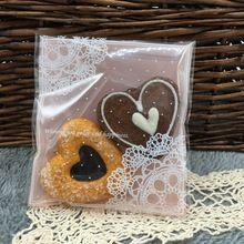 Frete grátis 50 pçs/lote plástico rosa rendas biscoito/bolinho queque embalagem sacos(China (Mainland))