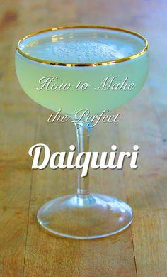 The best recipe for a classic Daiquiri.  No fruit, no blender, no tiny umbrella.