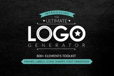 Logo Generator by Graphicboom on Creative Market