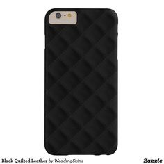 Leren iPhone hoesjes vind je bij ons! - #leather iphone 5 case designer | Black Quilted Leather Barely There iPhone 6 Plus Case - The distinctive diagonal black quilted leather squares, now available here in luscious designer colors for iPhone 6, 6+ and 5 phone cases - http://lereniPhone5hoesjes.nl