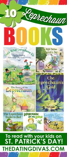 Fun stories for St. Patrick's Day! Books all about leprechauns! www.TheDatingDivas.com
