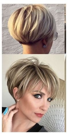Short Hairstyles For Thick Hair, Haircuts For Fine Hair, Short Hair With Layers, Elegant Hairstyles, Easy Hairstyles, Curly Hair Styles, Hairstyles Videos, Everyday Hairstyles, Fringe Hairstyles