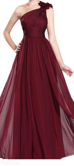 LovingDress One Shoulder Long Evening Dress