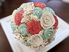 Handmade Wedding Bouquet Bridal Bridesmaid by CuriousFloralCrafts, $84.00