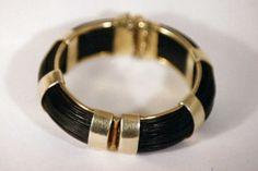 elephant hair and gold bracelet